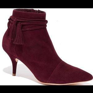BRAND NEW Bordeaux Ange Suede Booties